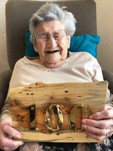 Resident Turns 100 at Gracewell of Fareham!