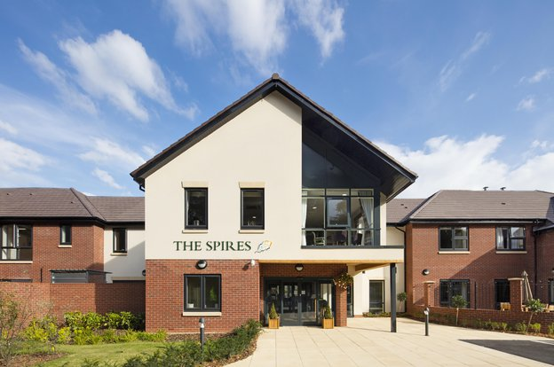 The Spires Care Home in Lichfield exterior of home