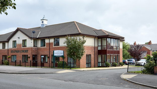 Station Court Care Home in Ashington exterior of home
