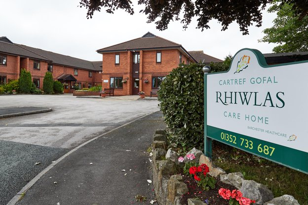 Rhiwlas Nursing Home in Flint exterior of home