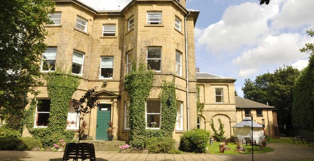 Abbey Grange Nursing Home in Sheffield exterior of home