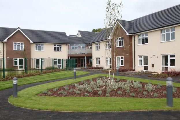Bryn Ivor Lodge Nursing Home in Newport exterior of home