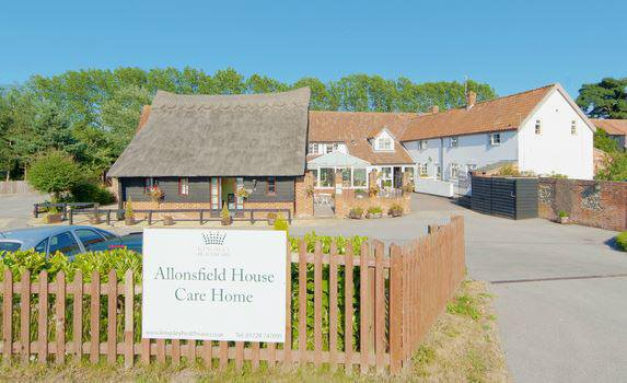 Allonsfield House & Ashfield Care Home in Woodbridge exterior of home
