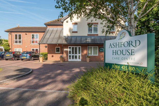 Ashford House Nursing Home in Stanwell exterior of home