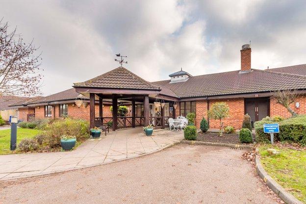 Derham House Nursing Home in Upminster exterior of home