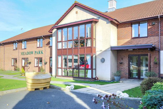 Meadow Park Care Home in Bedlington exterior of home