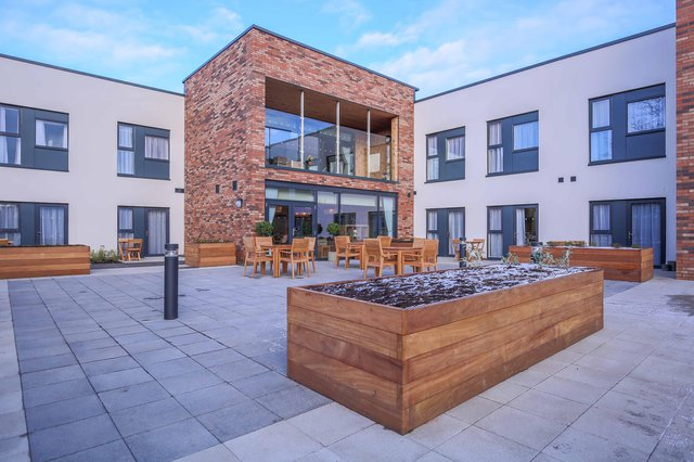 Queens Manor Care Home in Edinburgh exterior of the home