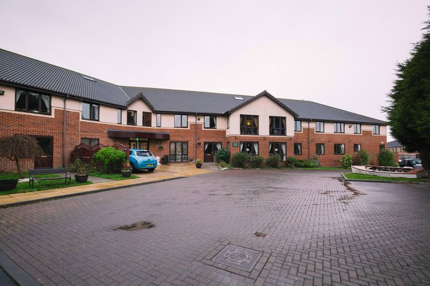 Woodhorn Park Care Home in Ashington exterior of home