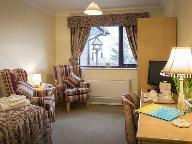 Bedroom at Highfields Care Home
