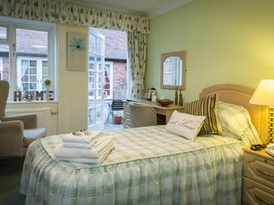 Bedroom at Tewkesbury Fields Care Home