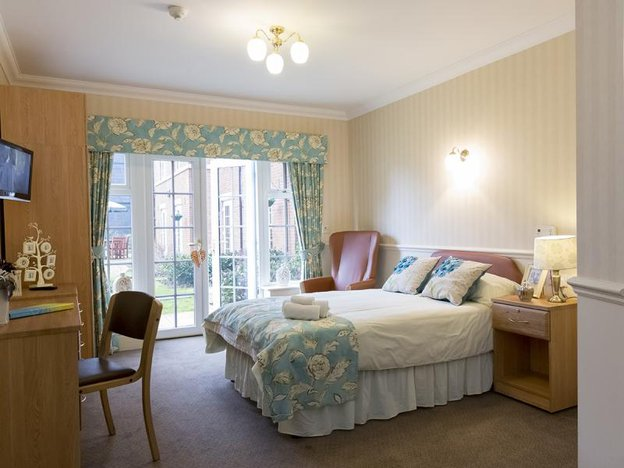 Bedroom at Elm Bank Care Home