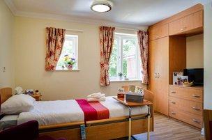Bedroom at Rowan Lodge Nursing Home