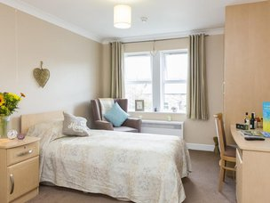 Bedroom in Scarborough Hall Care Home
