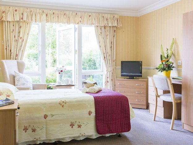 Bedroom in Bamfield Lodge Care Home