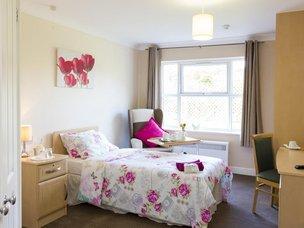 Bedroom in Boroughbridge Manor Care Home