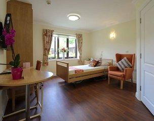Bedroom at Oak Lodge Nursing Home
