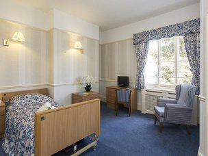 Bedroom in The Cedars Care Home
