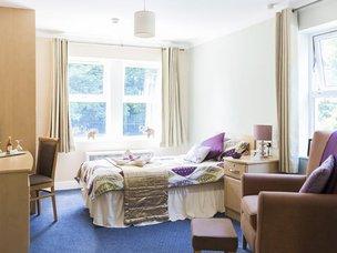 Bedroom in Cookridge Court Care Home