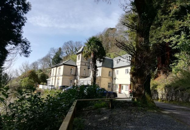 Beech Lodge Care Home in St Austell, Cornwall exterior