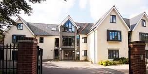 Branksome Heights Nursing Home in Bournemouth front exterior of home