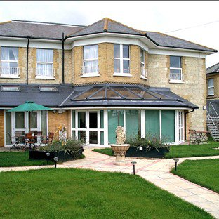 The Briars Care Home in Shanklin exterior of the home with garden