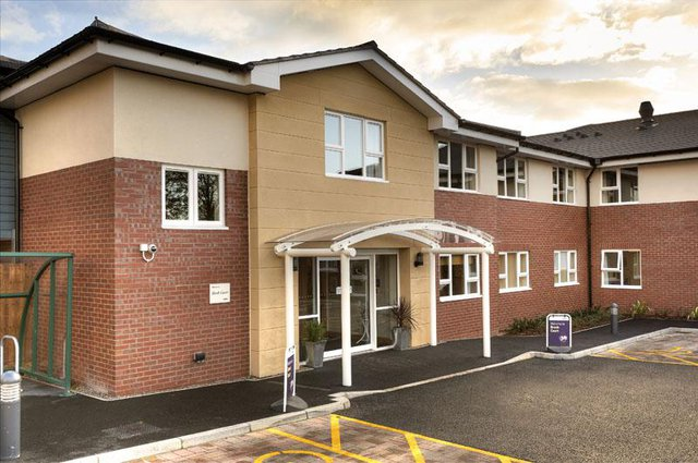 Brook Court Nursing Home in Kidderminster rear exterior of building