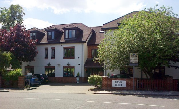 Brook House Nursing Home in Wembley exterior of home
