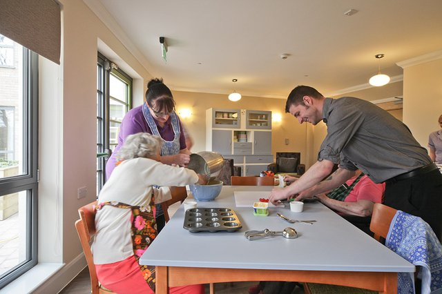 Cairdean House Nursing Home in Edinburgh residents baking activity