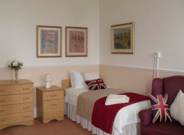 Bedroom in Canwick Court Care Centre