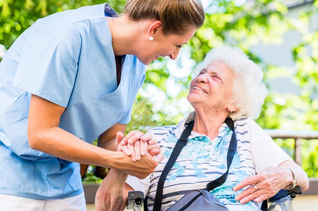 Aston Home Care Staffordshire Carer and patient