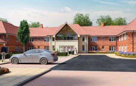 Broadbridge Park Care Home in Horsham exterior of home