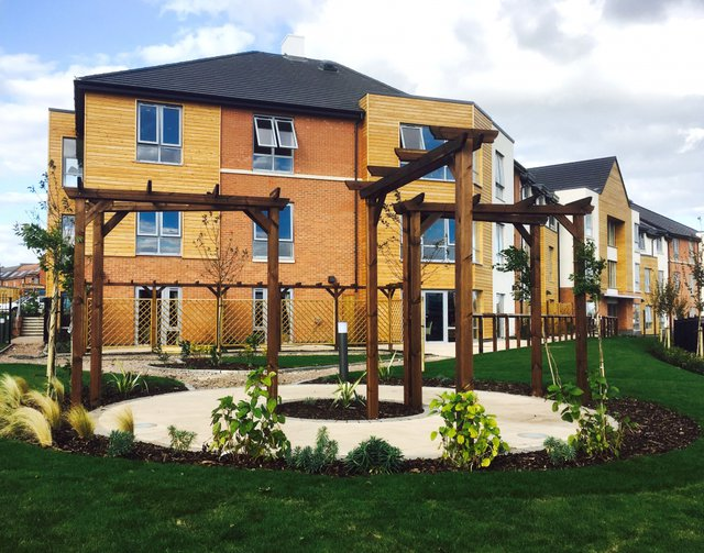Cedar Mews Care Home in Birstall exterior of home