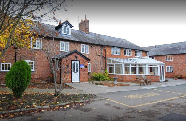 Church House Nursing Home in Nantwich front exterior of building