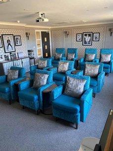 Cinema room in Avocet House