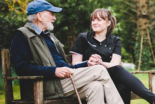 Clarendon Home Care in Kingston Upon Thames Care Giver and Service User