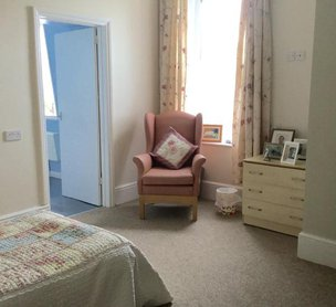 Coast Care Whitebeach Care Home Bedroom