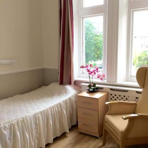 Coast Care Whitecliff Care Home Bedroom