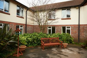 Darlington Court Nursing Home in Rustington rear exterior of building