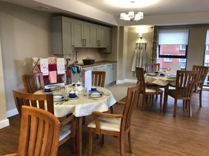 Lighthouse lodge Care Home New Brighton Merseyside dining room