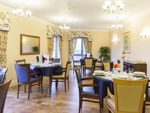 Dinning room at Broadway Halls Care Home