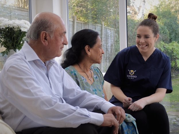 Sunbird Care in East Croyden care giver with service users