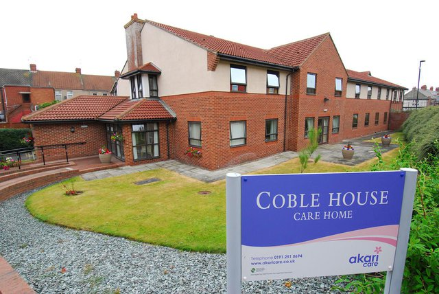 Coble House Nursing Home in Whitley Bay front exterior of building