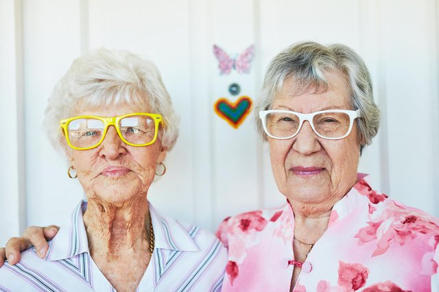 St Mary's Care Home elderly ladies