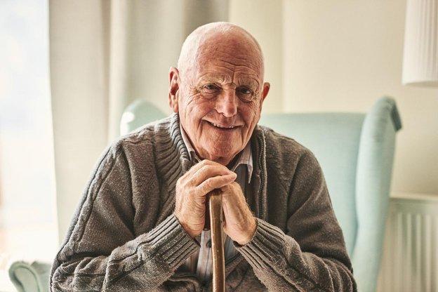 Freshford Cottage Nursing Home in East Sussex elderly man sitting