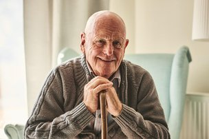 Freshford Cottage Nursing Home in East Sussex elderly man sitting
