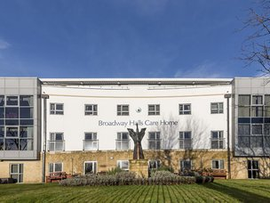 Front Exterior of Broadway Halls Care Home