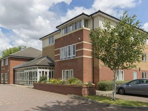 Front Exterior of Bamfield Lodge Care Home