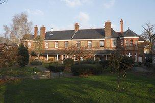 Elizabeth Lodge Nursing Home in Enfield rear exterior of building