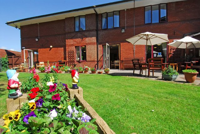 Comfort House Care Home in Newcastle rear exterior of home with garden