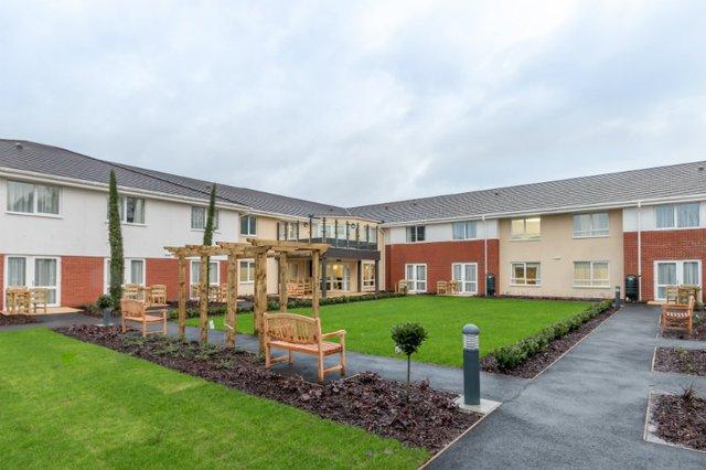 Glastonbury Court Care Home in Bury St Edmunds exterior